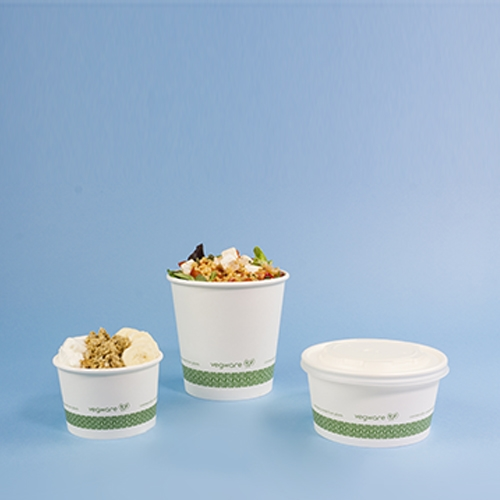 Vegware Compostable Soup Container 24oz White White 24oz