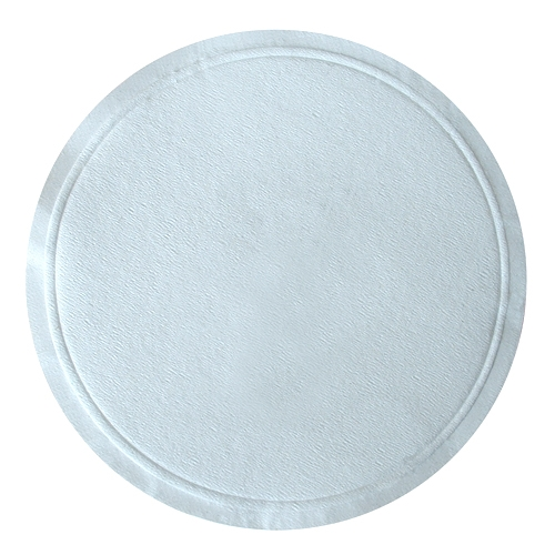 Straight Edge Bar Coaster 8cm White