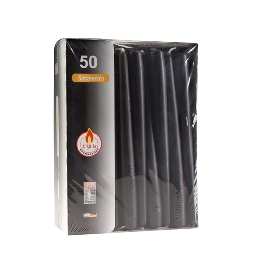 Tapered Candle 25cm Black