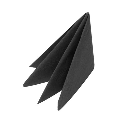 Cocktail  Napkin 2 Ply 25cm Black