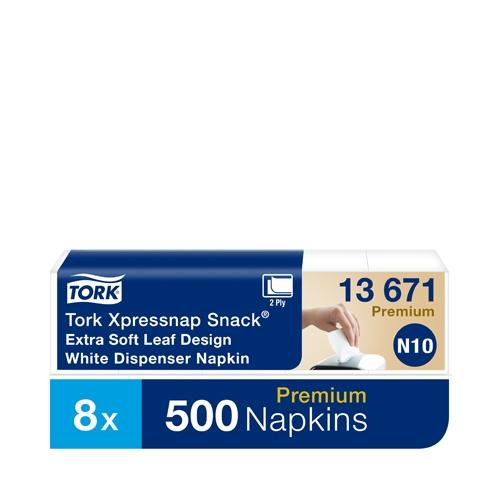 Tork White Xpressnap Snack® Extra Soft Dispenser Napkin 2 Ply