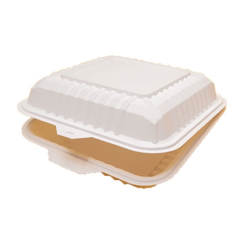 Cornware Biodegradable  Flip Lunch Box 1000ml White