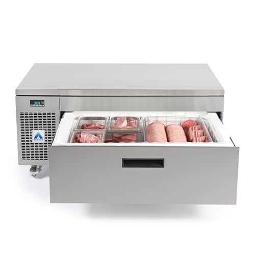 Adande Solid Top Side Engine 1 Drawer VCS1CHS Stainless Steel