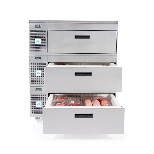Adande Solid Top Side Engine 3 Drawer VCS3CW Stainless Steel