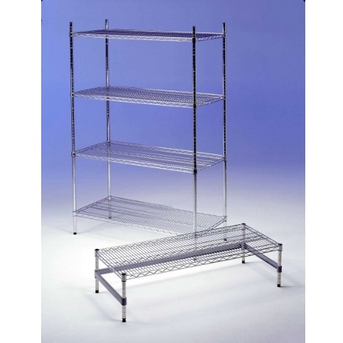 4 Tier Chrome Wire Shelving 800mm (W)