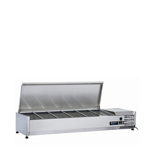 Blizzard Refrigerated Pizza / Salad Prep Unit Stainless Steel
