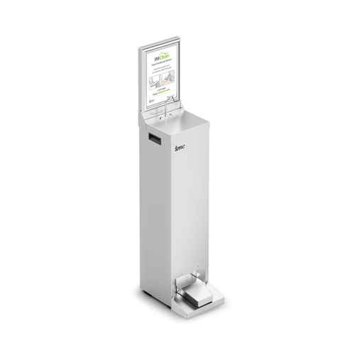 Lincat IMC Self Contained Hand Sanitiser Station 244  mm (W)  x 368 mm (D) x 900/1290 mm Stainless Steel