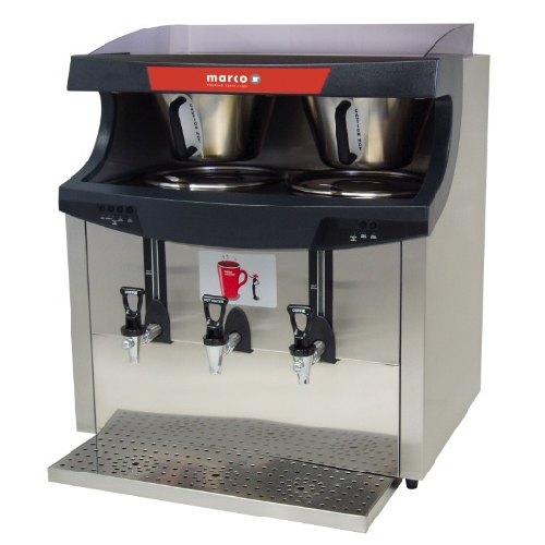 Marco  Qwikbrew Twin 6.8 Litre Stainless Steel and Black