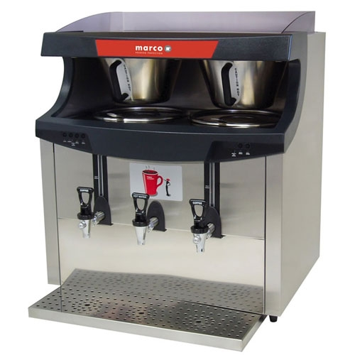 Marco  Maxibrew Twin 8.5 Litre Stainless Steel and Black