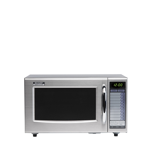 Sharp R21ATP Commercial Microwave 1000W 28Ltr Stainless Steel