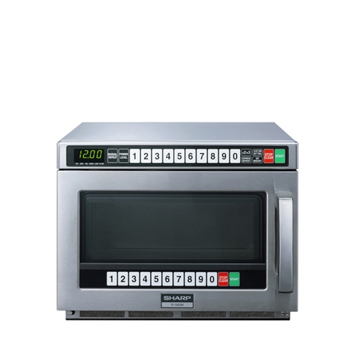 Sharp R1900M TwinTouch Microwave 1900W 21Ltr Stainless Steel