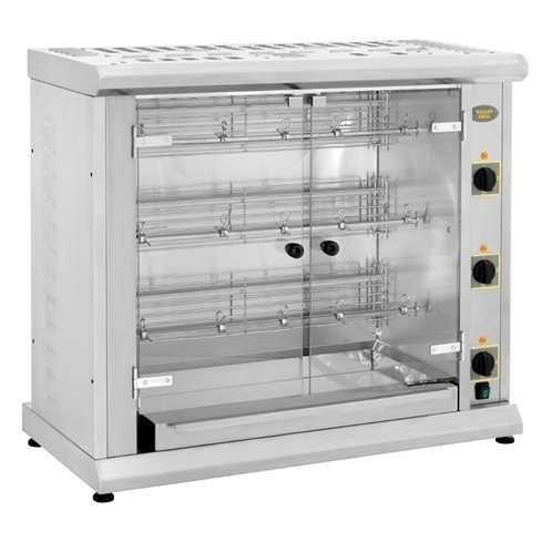 Roller Grill Electric Chicken Rotisserie Oven RBE 120Q Stainless Steel
