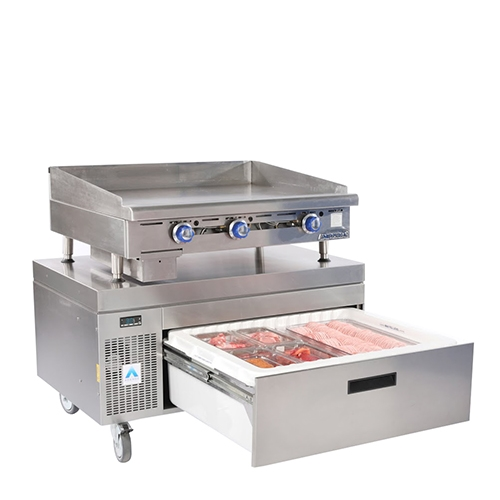 Adande Solid Top Side Engine 1 Drawer VCS1HCHS Stainless Steel
