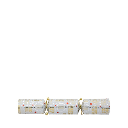 "QL Content  Deck The Halls Cracker 12"" White, Silver & Gold"