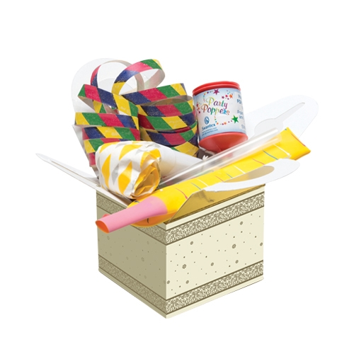 Winter Greetings Party Box Cream & Gold