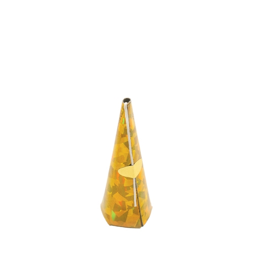 Holographic Cone Party Popper Gold