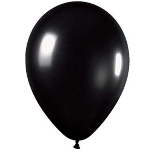 "Black Pearl Balloon 12"""