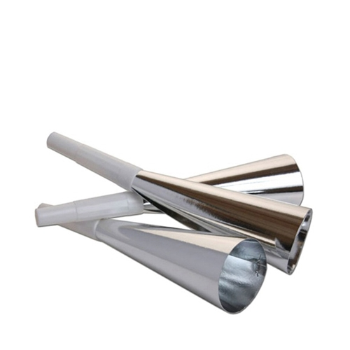 White Mouth Piece Silver Party Tooters 7