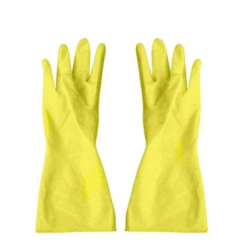 Household Rubber Gloves Medium Yellow