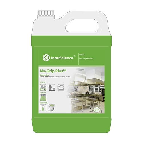 InnuScience Nu-Grip Plus Kitchen Floor Cleaner & Degreaser 5Ltr Green