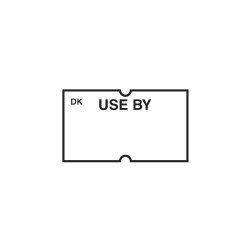 Use By Gun Label 1.2 x 2.2cm White