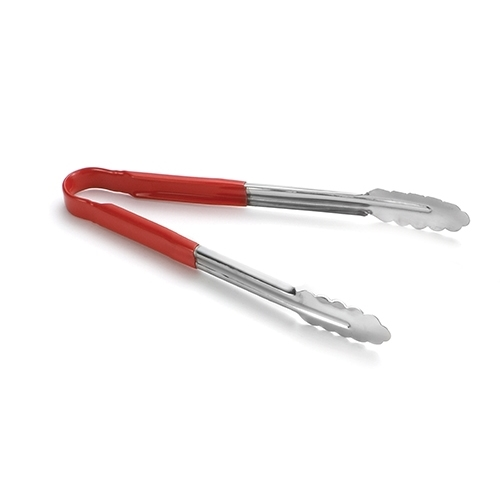 Tablecraft Vinyl Coated Utility Tongs Red Handle 300mm
